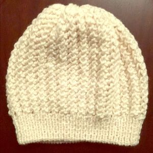 Handmade winter hat (made by me) Beige
